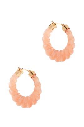 Pink Janis Resin Hoop Earrings by Loeffler Randall