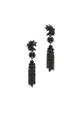 Black Metal Ingenue Earrings by Erickson Beamon