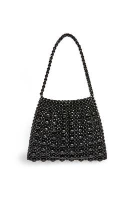 Black Mira Beaded Shoulder Bag by Loeffler Randall