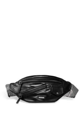 Black Jan Money Belt Bag by Mackage Handbags