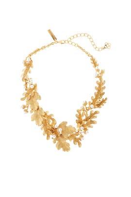 Acorn and Leaf Necklace by Oscar de la Renta