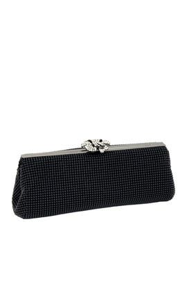 Black Crystal Flower Clutch by Whiting & Davis