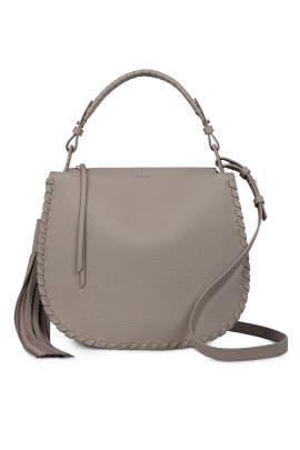 Taupe Grey Mori Hobo Bag by AllSaints