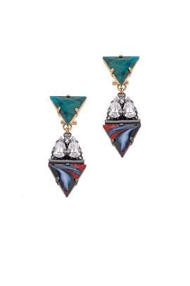 Geometric Chandelier Earrings by Anton Heunis