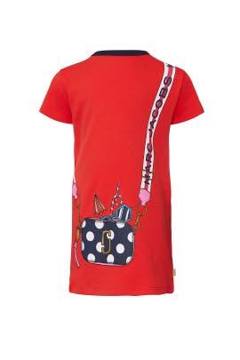 Kids Red Trompe Loeil Dress by Little Marc Jacobs