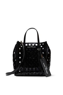 The Perforated Mini Tag Tote by Marc Jacobs Handbags
