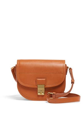 Cognac Pashli Saddle Bag by 3.1 Phillip Lim Accessories