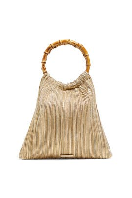 Bamboo Circle Handle Pouch by Loeffler Randall