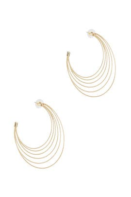 Gold Future Circle Hoops by Area Stars