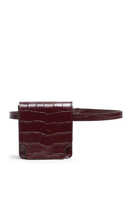 Wine Croc Pump Slim Belt Bag by Marge Sherwood