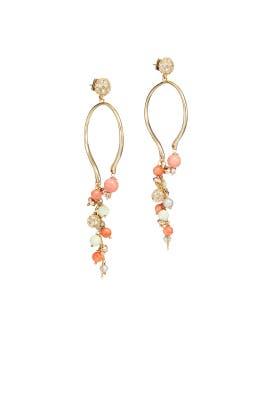 Pink Dangling Wire Earrings by Alexis Bittar