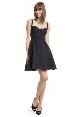 Navy Flirt and Flare Dress by Z Spoke Zac Posen