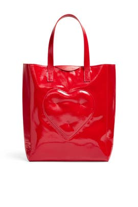 Red Chubby Heart Tote by Anya Hindmarch