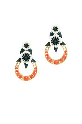 Odessa Drop Hoop Earrings by Elizabeth Cole