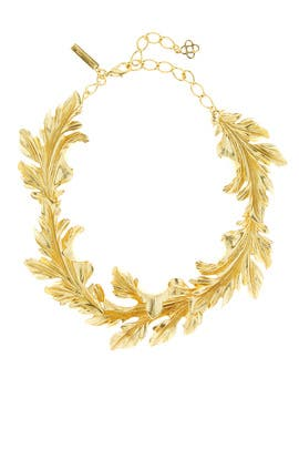 Baroque Leaves Necklace by Oscar de la Renta