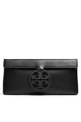 Black Miller Clutch by Tory Burch Accessories
