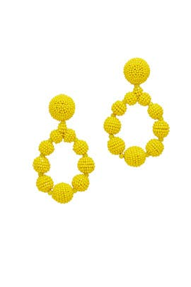 Yellow Beaded Teardrop Earrings by Sachin & Babi Accessories