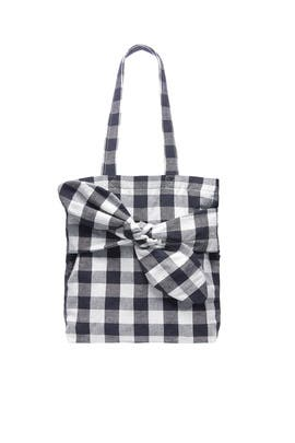 Gingham Bessie Bow Tote by Loeffler Randall