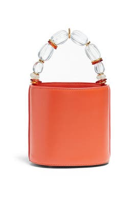 Persimmon Florent Bucket Bag by Lizzie Fortunato