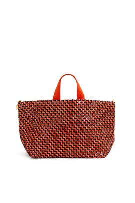 Woven Zig Zag Bateau Tote by Clare V.
