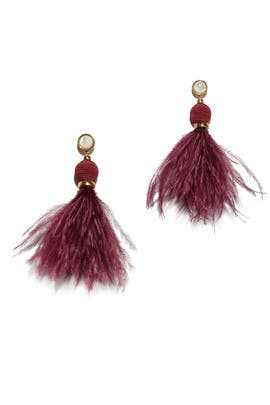 Parker Feather Earrings by Lizzie Fortunato