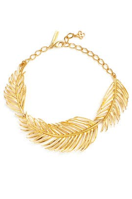 Palm Leaf Necklace by Oscar de la Renta