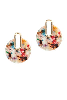 Multi Resin Circle Earrings by Slate & Willow Accessories