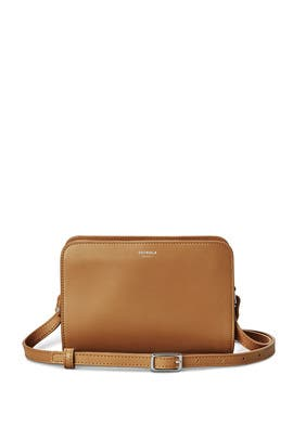 Cognac Mini Crossbody by Shinola
