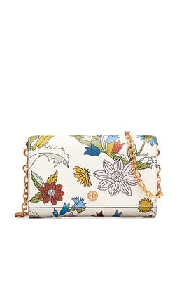 Floral Robinson Chain Wallet by Tory Burch Accessories