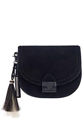 Natural Black Saddle Bag by Loeffler Randall