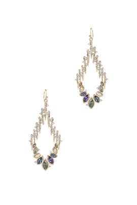 Navette Crystal Wire Earrings by Alexis Bittar