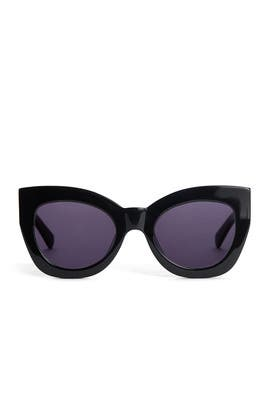 Black Northern Lights Sunglasses by Karen Walker