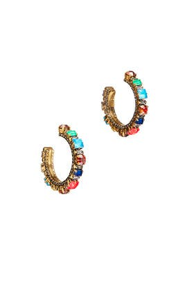 Funhouse Hoop Earrings by Erickson Beamon