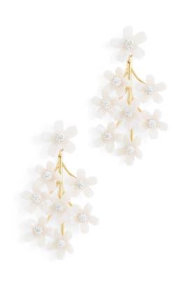 Garden Bouquet Chandelier Earrings by Lele Sadoughi