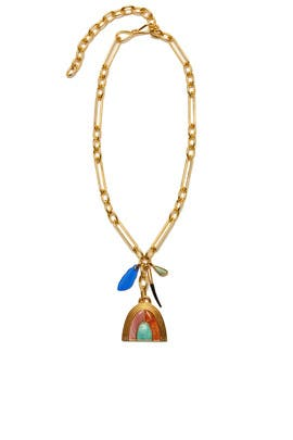 Pot Of Gold Charm Necklace by Lizzie Fortunato