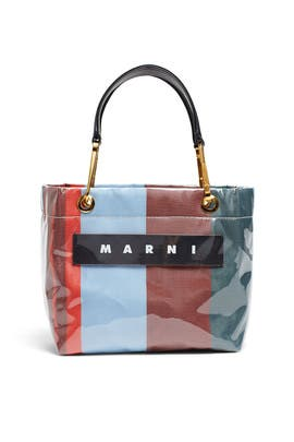 Mini Glossy Grip Shopper by Marni Accessories