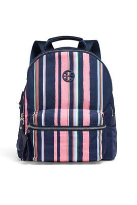 Tilda Striped Zip Backpack by Tory Burch Accessories