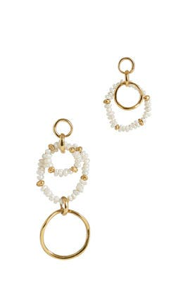 Wave Asymmetrical Pearl Earrings by Joanna Laura Constantine