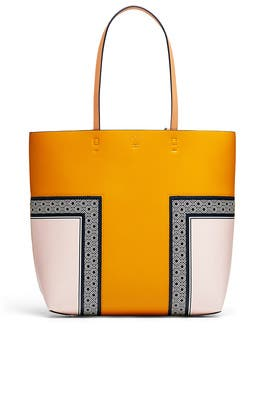 Mustard Block T Tote by Tory Burch Accessories