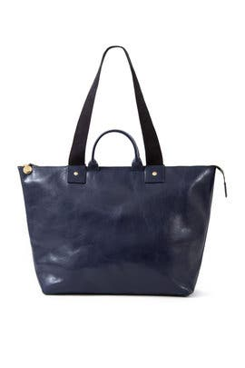 Navy Le Zip Sac Tote by Clare V.