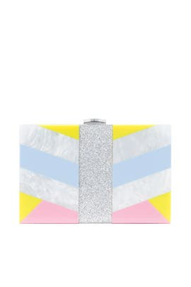 Geo Box Clutch by Milly Handbags