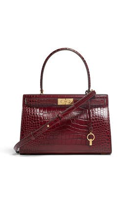 Claret Lee Radziwill Small Satchel by Tory Burch Accessories