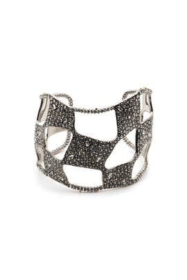 Pave Checkerboard Cuff by Alexis Bittar