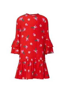 Kids Red Stickers Dress by Stella McCartney Kids