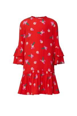 Kids Red Stickers Dress by Stella McCartney Kids
