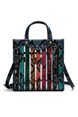 030022272c Anya Hindmarch Python Print Multi Stripes Tote