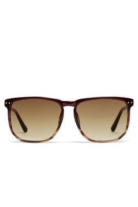 Merlot Brown Sunglasses by Linda Farrow