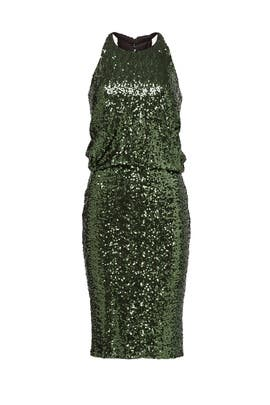 Evergreen Sequin Dress by Badgley Mischka
