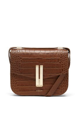 Cognac Croc Vancouver Bag by DeMellier London