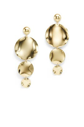 Gold Oblong Earrings by Ettika